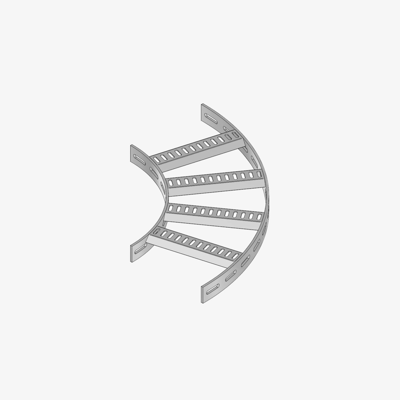 90° Bogen für Trapez-Kabelbahn