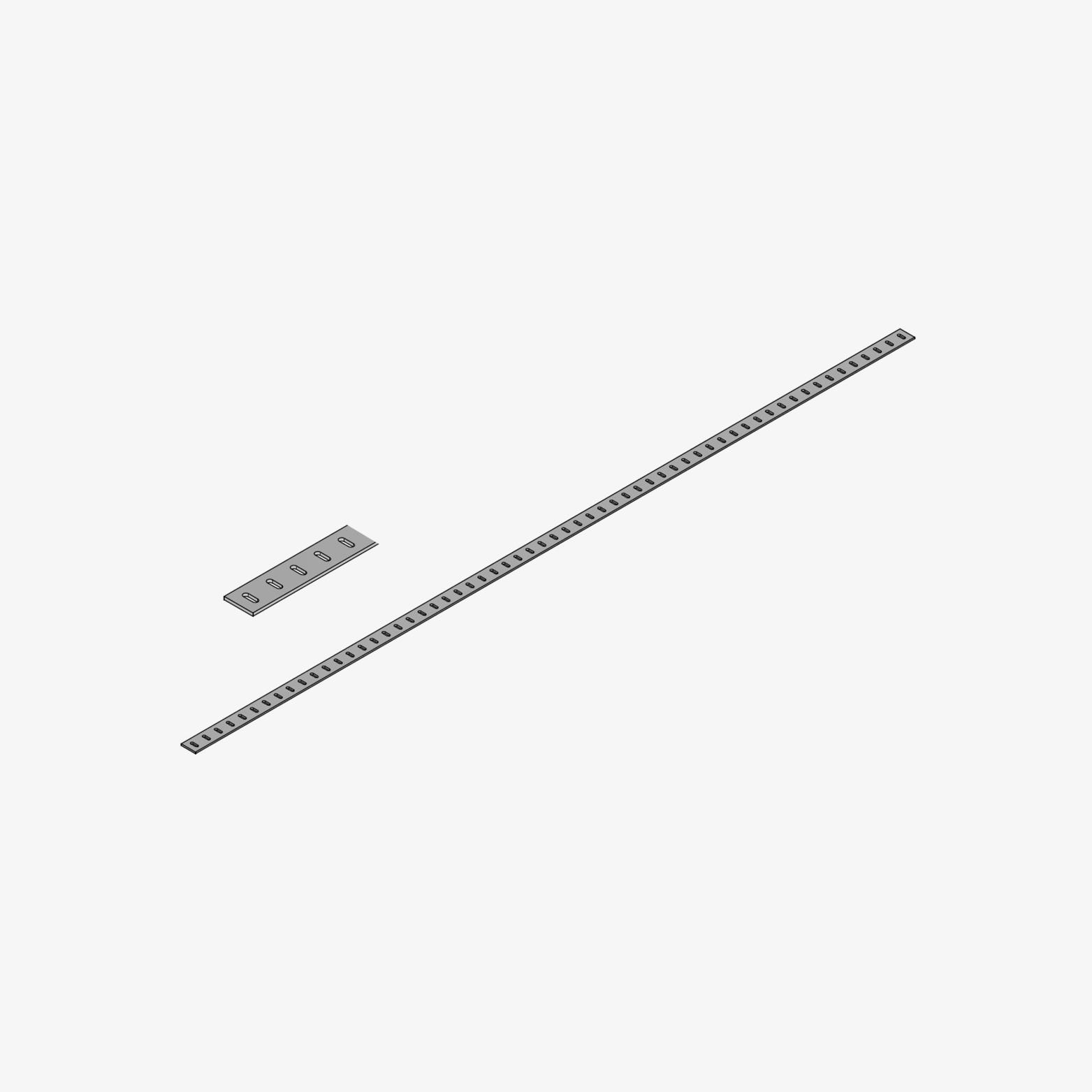 Edelstahl-Querloch-Profil