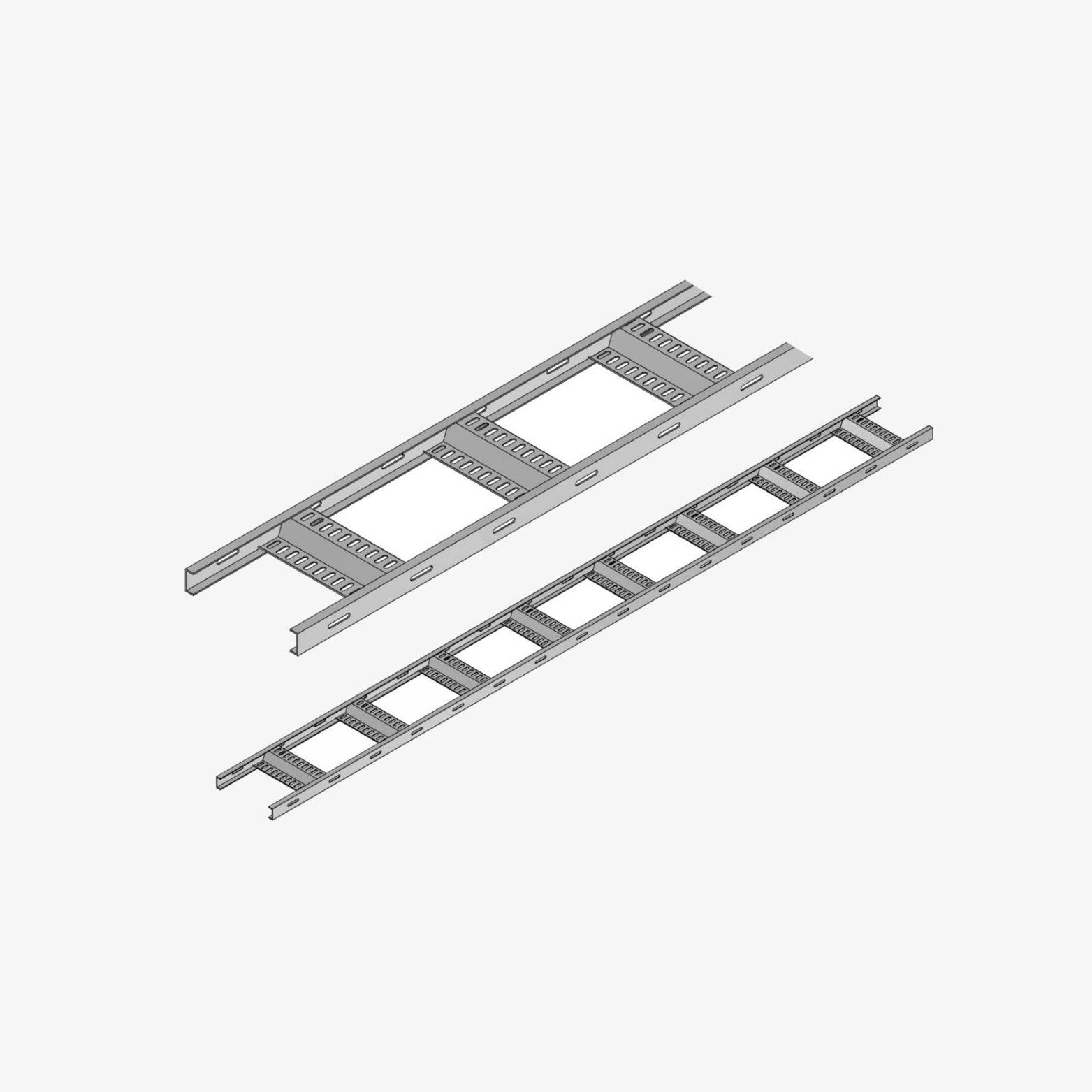 Fischer Kabelbahn mit gelochten U-Profilen