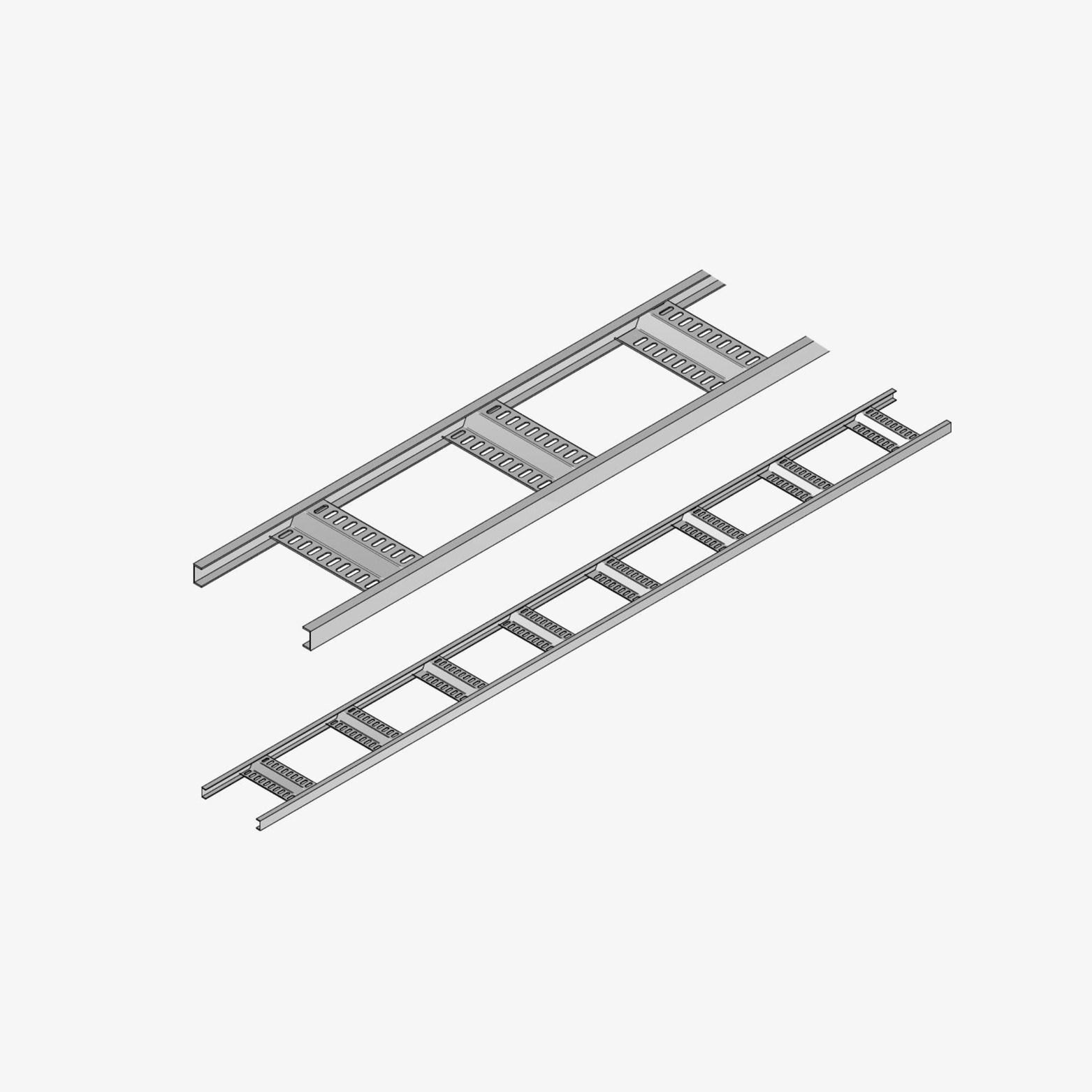 Fischer Kabelbahn mit ungelochten U-Profilen