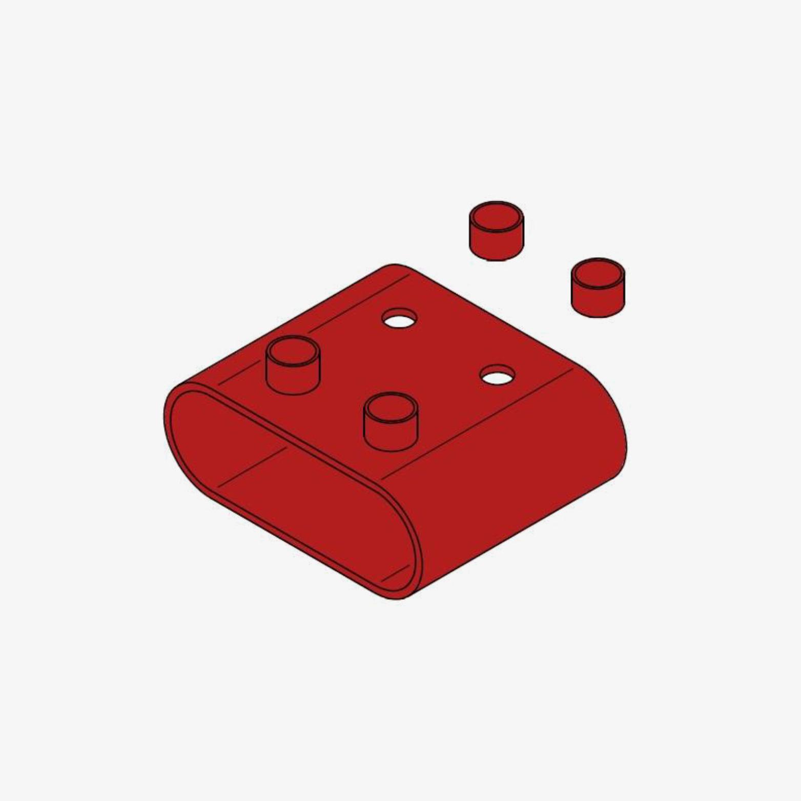 Rahmen Form C, oval, VG88700-3 mit vier Vergießöffnungen
